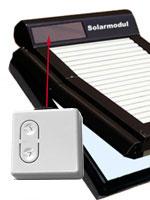 Bedienung - Solar-Taster (stromunabhängig)